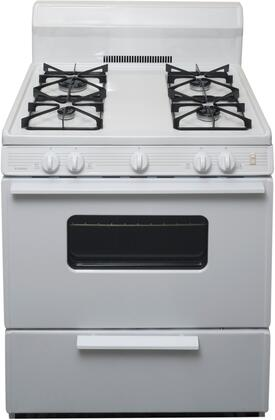 SMK290OP 30 inch  Freestanding Gas Range with 4 Sealed Burners  Porcelain Coated Steel Grates  2 Oven Racks  and Electronic Ignition  in