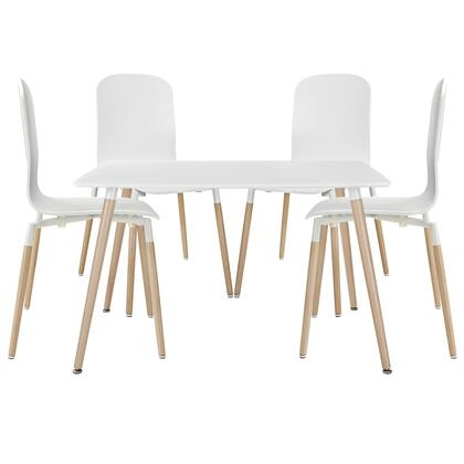 Stack Collection EEI-1375-WHI 5 PC Bar Table Set with 1