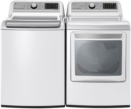 """White Top Load Laundry Pair with WT7200CW 27"""""""" Washer and DLG7201WE 27"""""""" Gas"""" 754197"""