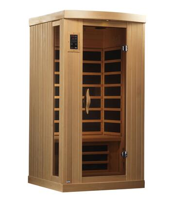 GDI-6154-01 77 inch  Near Zero EMF Far Infrared Sauna with 1-2 Person Capacity  6 Carbon Heating Elements  Exterior Ambient Lighting  and LED Control