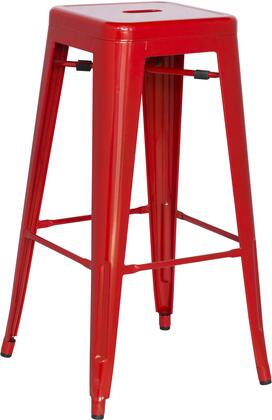8015-BS-RED 30 Galvanized Steel Bar Stool in