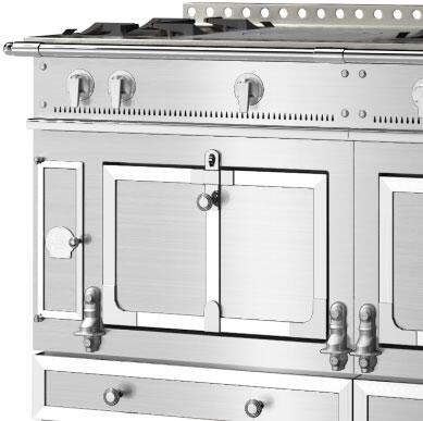 Le Chateau Standard Trim Option: Brushed Stainless Steel Trim and Rail  Nickel Accent
