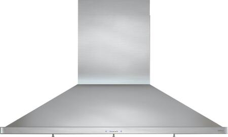 ZSP-E48BS 48 inch  Essentials Europa Series Siena Pro Wall Mount Range Hood with 1200 CFM  ICON Touch Controls  5 Speed Levels and Dual-Level BriteStrip LED