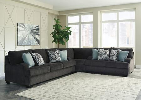 Charenton Collection 14101-38-77-35 3-Piece Sectional Sofa with Sofa  Wedge and Loveseat in