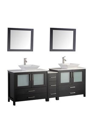 -1172E Jordan 72 Double Sink Bathroom Vanity Set