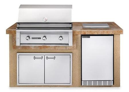 Sedona L1600SLP Deluxe Sandalwood Island Package Includes Sedona L600PS Grill  Sedona Outdoor-rated Refrigerator  Single Side Burner and Double