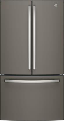 GE GNE27JMMES 36 French Door Refrigerator with 27 cu. ft. Total Capacity in Slate