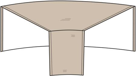 1250-TN Sectional Wedge Outdoor Cover with UV Treated  Water Resistant  Soft Fleece Polypropylene Backing and Heavy Duty Vinyl Fabric in Tan