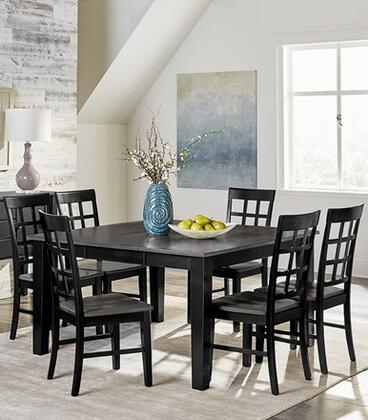 Salem D811-CT-6SC 7-Piece Dining Room Set with Counter Height Table and 6 Side Chairs in Grey and