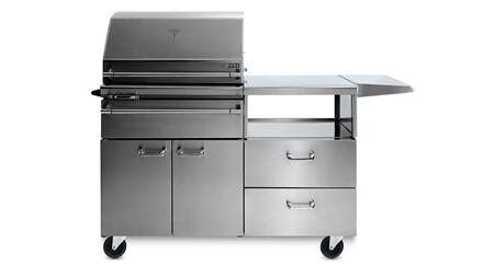 LSMKM-NG Sonoma Series Natural Gas Smoker on Mobile Kitchen Cart with 1000 sq. in. Cooking Surface  Dual Racks and Wifi and App Enabled in Stainless