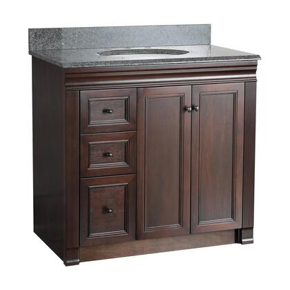SHEA3621DL Shawna Collection 36 inch  Vanity with Oil Rubbed Bronze Knobs in Tobacco