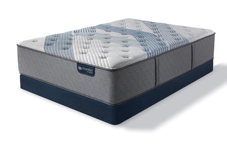 iComfort Hybrid 500821832-QMFLP Set with Blue Fusion 3000 Plush Queen Mattress + Low Profile