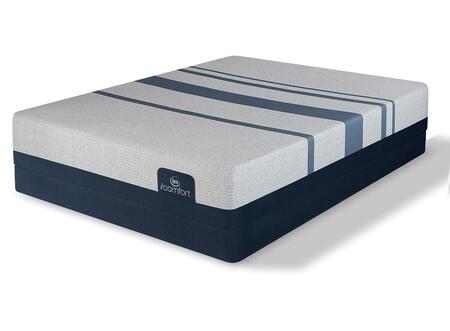 iComfort Foam 500800078-QMFLP Set with Blue 500 Plush Queen Mattress + Low Profile