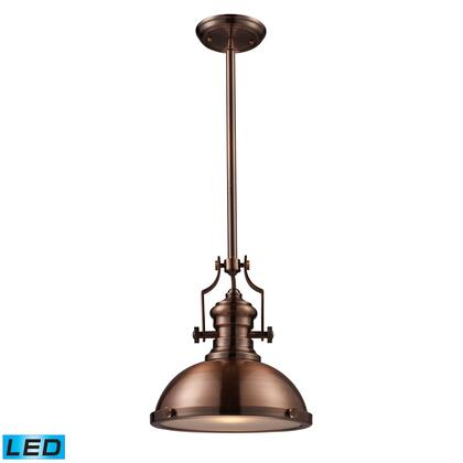 66144-1-LED Chadwick 1-Light Pendant in Antique Copper -