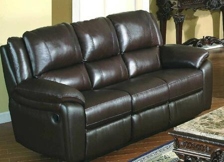 BA6637S-BR Baxter 85 inch  Leather Match Sofa in