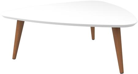 89251 Utopia 11.81 inch  High Triangle Coffee Table with Splayed Legs in White