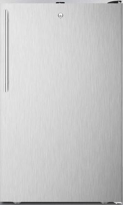 FS408BLXSSHVADA 20 inch  ADA Compliant Upright Freezer with 2.8 cu. ft. Capacity  4 Pull-Out Drawers  Adjustable Thermostat and Manual Defrost  in Stainless Steel