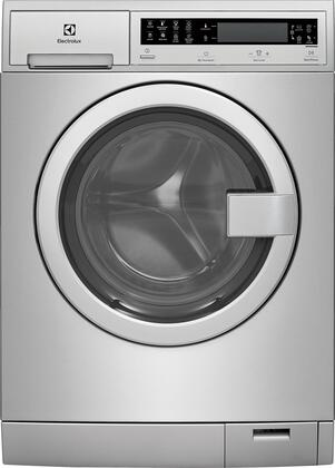 "Stainless Steel Front Load Compact Laundry Pair with EFLS210TIS 24"""" Washer  EFDE210TIS 24"""" Electric Dryer and 2 EPWD210TIS"" 802330"