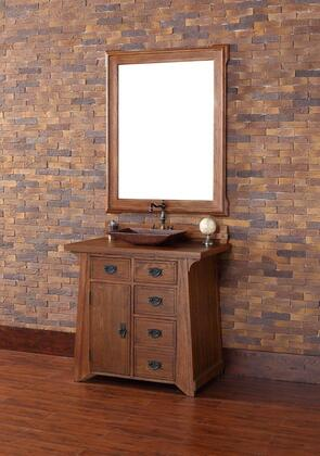 250-V36-ANO-ANO Pasadena 36 Antique Oak Single Vanity with Wood