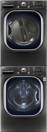 Black Stainless Steel Washer and Dryer Package with WM4370HKA 27