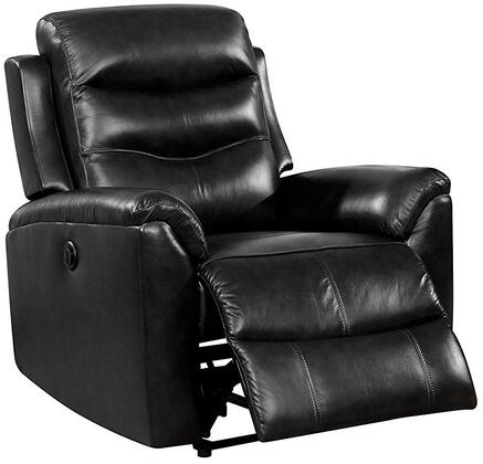 Ava Collection 59682 35 inch  Recliner with Power Metal Reclining Mechanism  Pocket Coil Seat  External Push Button  Wood Frame and Top Grain Leather Upholstery in