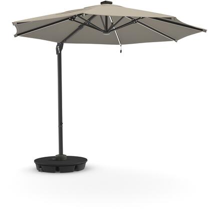 Oakengrove Collection P017-995 118 Large Cantilever Umbrella with Octagonal Shade  Solar Powered LED Lights with On-Off Switch  Nuvella Solution Dyed Fabric