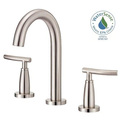 D304554BN Sonora 4 in. 2-Handle Minispread Mid-Arc Bathroom Faucet in Brushed