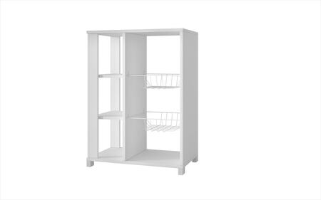 49AMC6 Accentuations by Manhattan Comfort Useful Pasir Pantry Rack with 4 Shelves and 2 Racks in