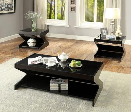 Signourney Collection CM4182-3PK 3-Piece Living Room Table Set with Coffee Table and 2 End Tables in