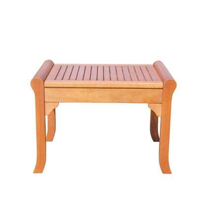 V1641 Malibu Eco-Friendly Outdoor Hardwood Garden Backless Chair  Natural