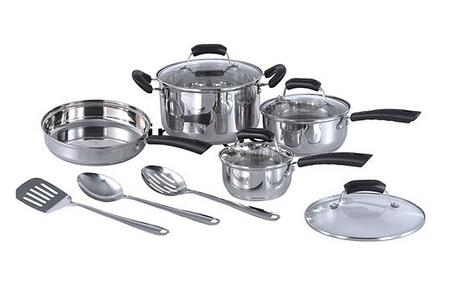 HK-1111 11 Piece Stainless Steel Cookware