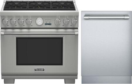 2-Piece Stainless Steel Kitchen Package with PRG366JG 36