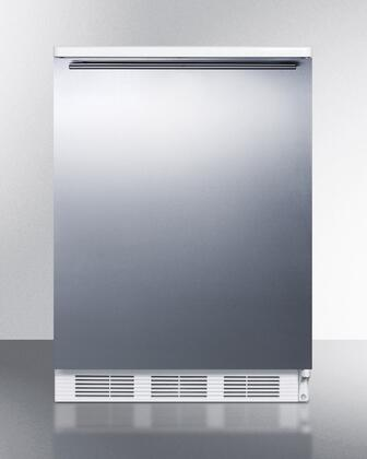 FF6BI7SSHH 24 inch  Commercially Approved All-Refrigerator with 5.5 Cu. Ft. Capacity  Automatic Defrost  Adjustable Shelves  Crisper  and Interior Light: Stainless