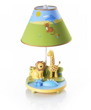Savana Smiles G86807 19 inch  Table Lamp with On and Off Switch  Hand Painted and Animal Themed in Multi