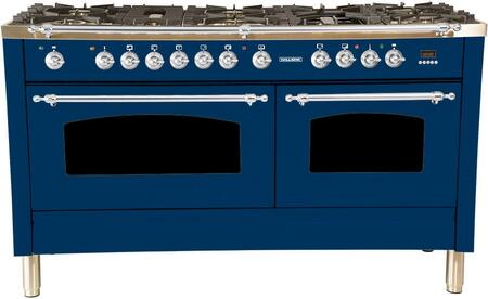 HGR6001DFBU 60 inch  Dual Fuel Natural Gas Range with 8 Sealed Burners  5.99 cu. ft. Total Capacity True Convection Oven  Griddle  in