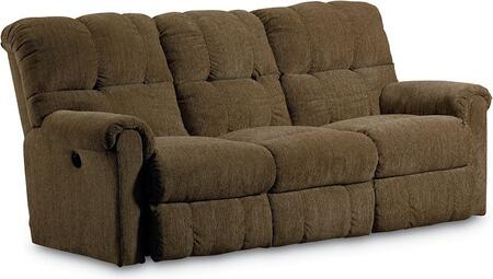 Griffin Collection 327-59/4148-21 82 inch  Power Double Reclining Sofa with Fabric Upholstery  Rolled Padded Arms  Tufted Back Cushions and Traditional Style in