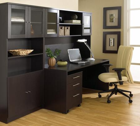 1C100006MES Espresso Executive Office Desk with Hutch &