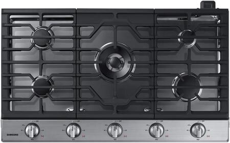 "NA36K6550TS 36"" Gas Cooktop with 5 Sealed Burners  Illuminated Knobs  Aluminum Griddle and Wifi  in Stainless"