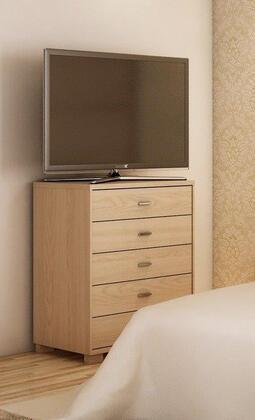 60662 Manhattan Comfort 5 Drawer Astor Dresser in Oak Vanilla/ Pro