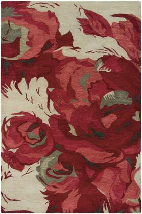 Arabesque Abs3000-2747 27 X 47 Rectangular 100% Polypropylene Rug With No Shedding  Easy Care  Medium Pile  And Machine Made In Egypt In Burgundy  Forest