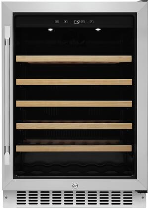 Dacor HWC241R 24 Heritage Series Right Hinge Single Zone Wine Cellar with 46 Bottle Capacity, DynamicClimate Mode, Dual Paned UV Resistant Tempered Glass Door, in Stainless Steel