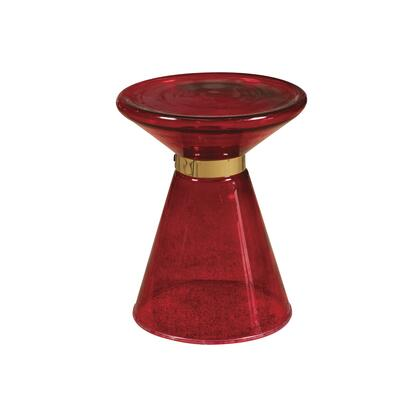 P050480 Red Glass Side Table