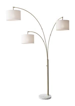 4250-21 Bowery 3 Arm Arc Lamp  Antique Brass