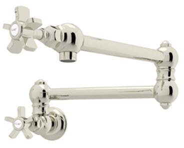 A1451XPN-2 Italian Country Kitchen Collection Wall Mounted Swing Arm Pot Filler with 24