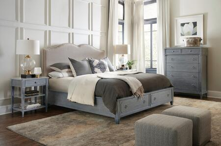 5770-KUSBBTC 3-Piece Hamilton Collection Bedroom Set with King Size Upholstered Storage Bed + Bedside Table + Chest  in Grey