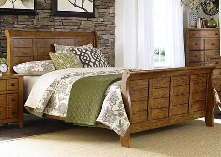 Grandpa's Cabin Collection 175-BR-QSL Queen Sleigh Bed with 7