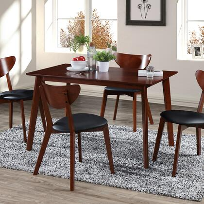 T-TDS450-DWL Modern Wood Dining Room Table and Chairs