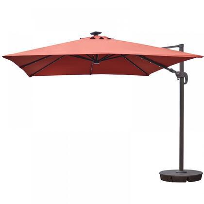 NU6250 Santorini II Fiesta 10-ft Square Cantilever Umbrella in Terra Cotta Sunbrella