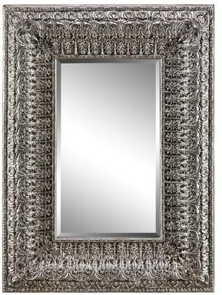 Kenna Villa 13429 58 inch  Wall Mirror with Fleur Patterned Frame  Warm Umber Tones and Finished with Powder Glaze in