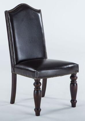 Sofia ZWSF73CL 23 inch  Dining Chair with Nail Head Trim  Artisan Frame  Hand-Turned Legs and Leather Upholstery in Chestnut